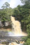 Ingleton_Waterfalls_Trail_081_08172014 - A closer look at Thornton Force with a faint rainbow at its base