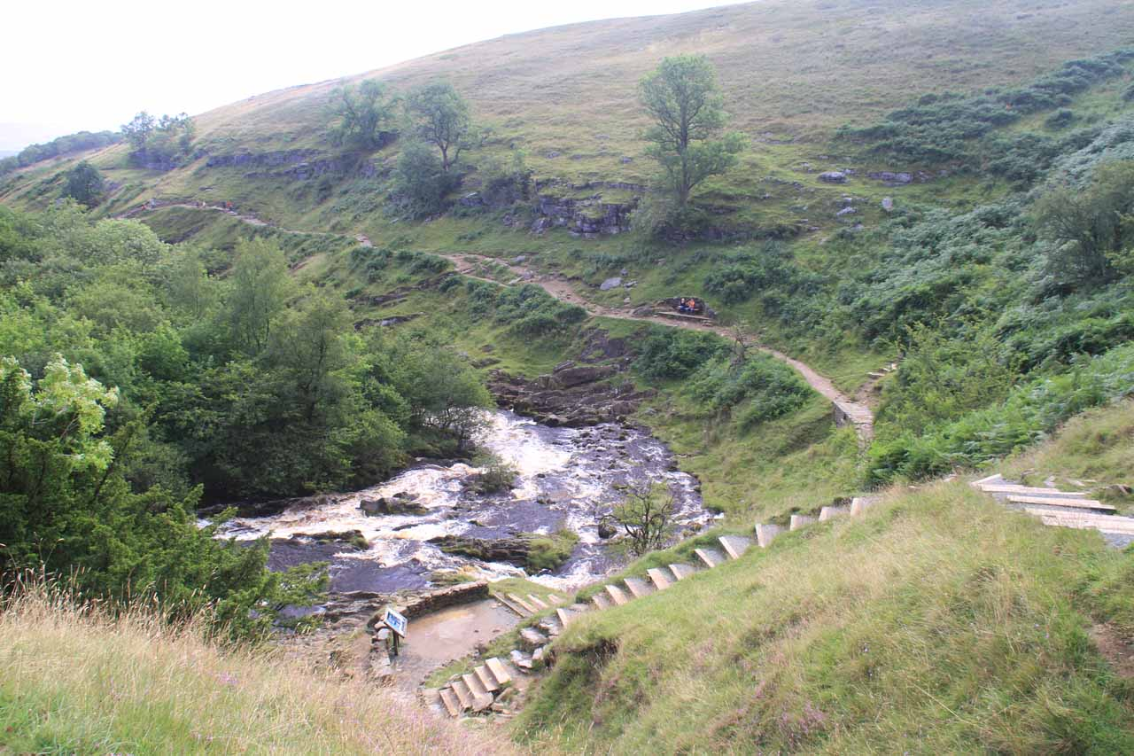 Looking back at the stairs near the Thornton Force