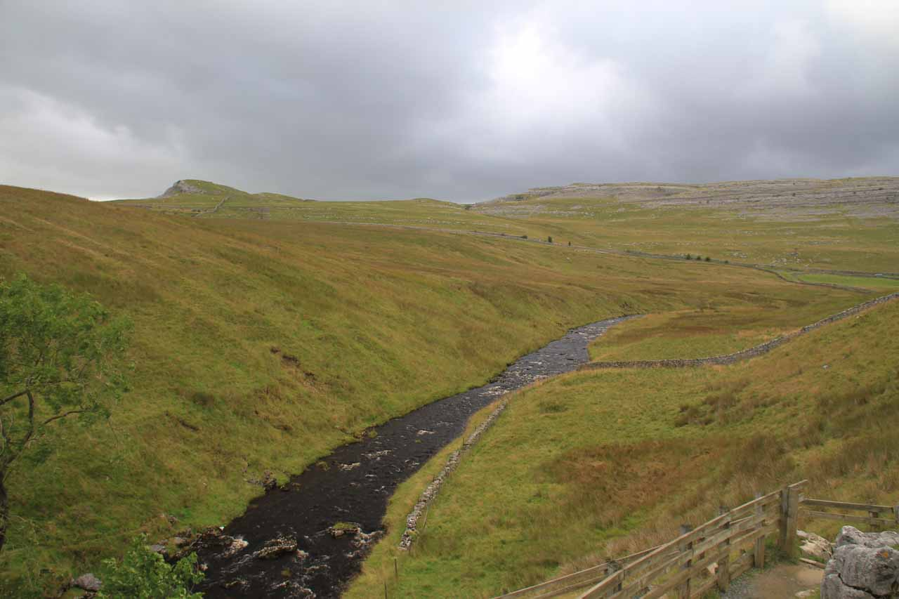 Looking over Kingsdale Beck with the bad weather about to come over us
