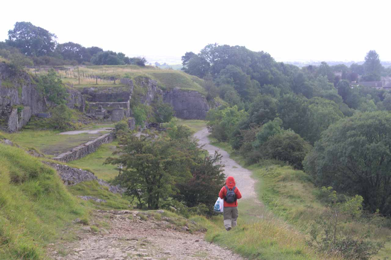 Descending past some ruins or structures as we were completing the Ingleton Waterfalls Trail heading back towards Ingleton