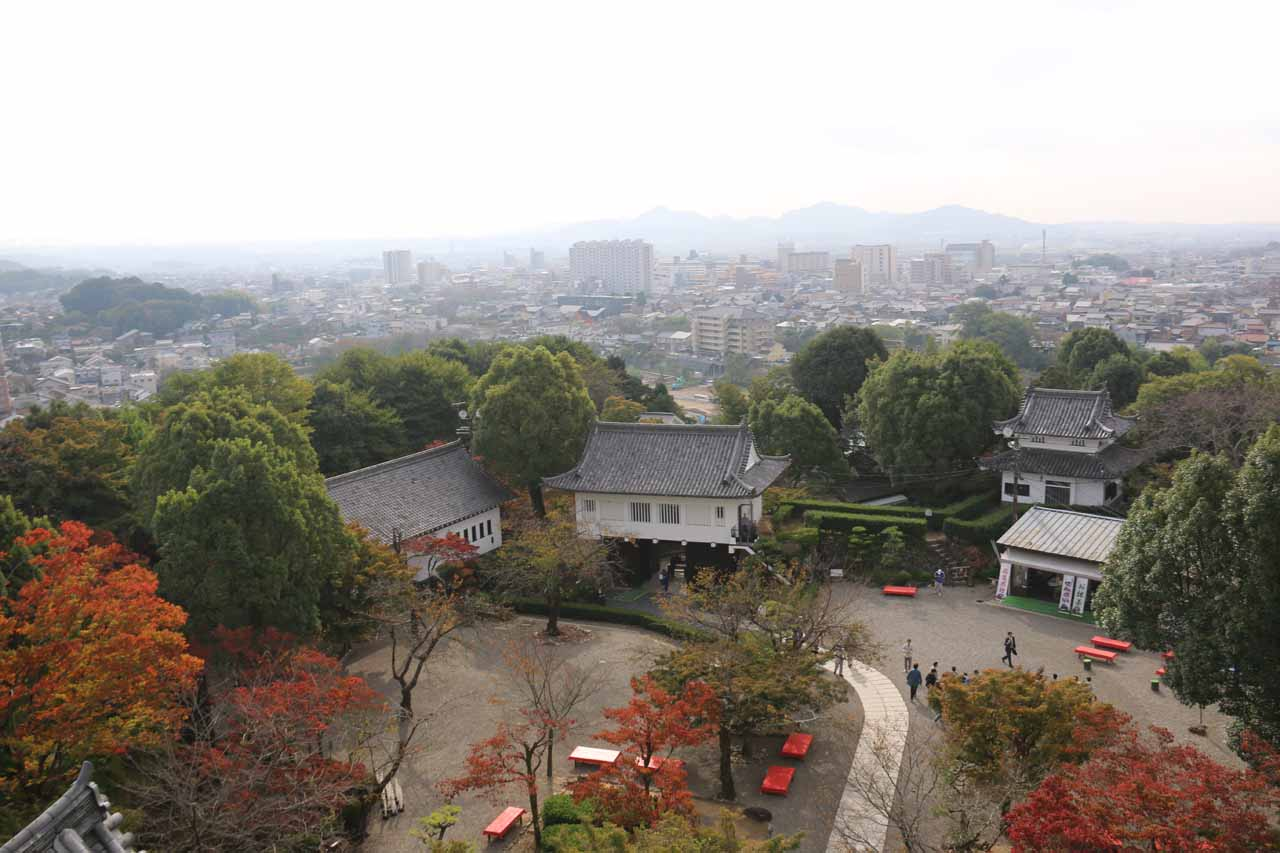 This was the view towards the city of Inuyama from the top of the Inuyama Castle