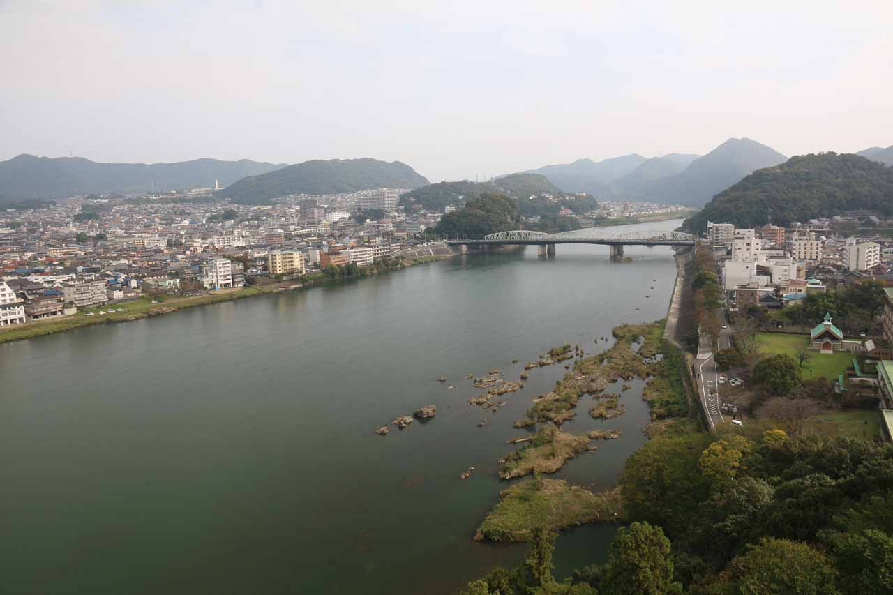 One of the highlights of the Inuyama Castle was the view from the top of the castle, which also took in the Kiso River (or Kisogawa; said to be Japan's version of the Rhine)