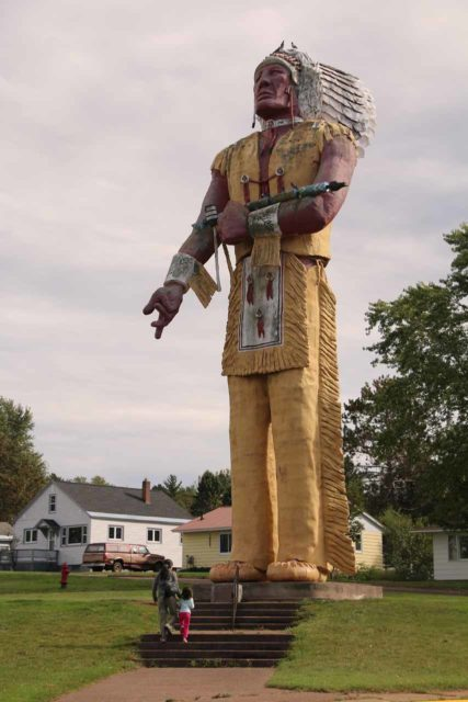 Ironwood_002_09282015 - About 62 miles west of Paulding was the town of Ironwood, Michigan, which possessed this giant Hiawatha statue that was proclaimed to be 'the largest Indian statue in the world.'