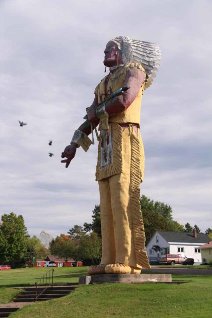 Ironwood_009_09282015 - About 18 miles east of Superior Falls was the town of Ironwood, Michigan, which possessed this giant Hiawatha statue that was proclaimed to be 'the largest Indian statue in the world.'
