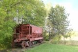 Ironwood_013_09282015 - Some old mining railcar by the Hiawatha Statue in Ironwood, MI