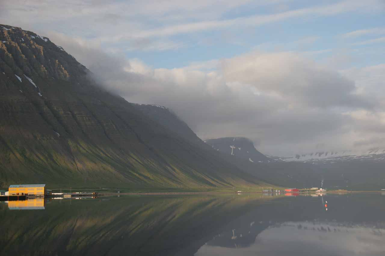 The nearest big town to Dynjandi is the gorgeous Isafjörður roughly 90 minutes to the north