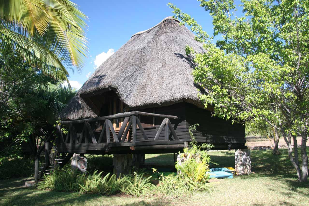 Our hut at Isanga Bay