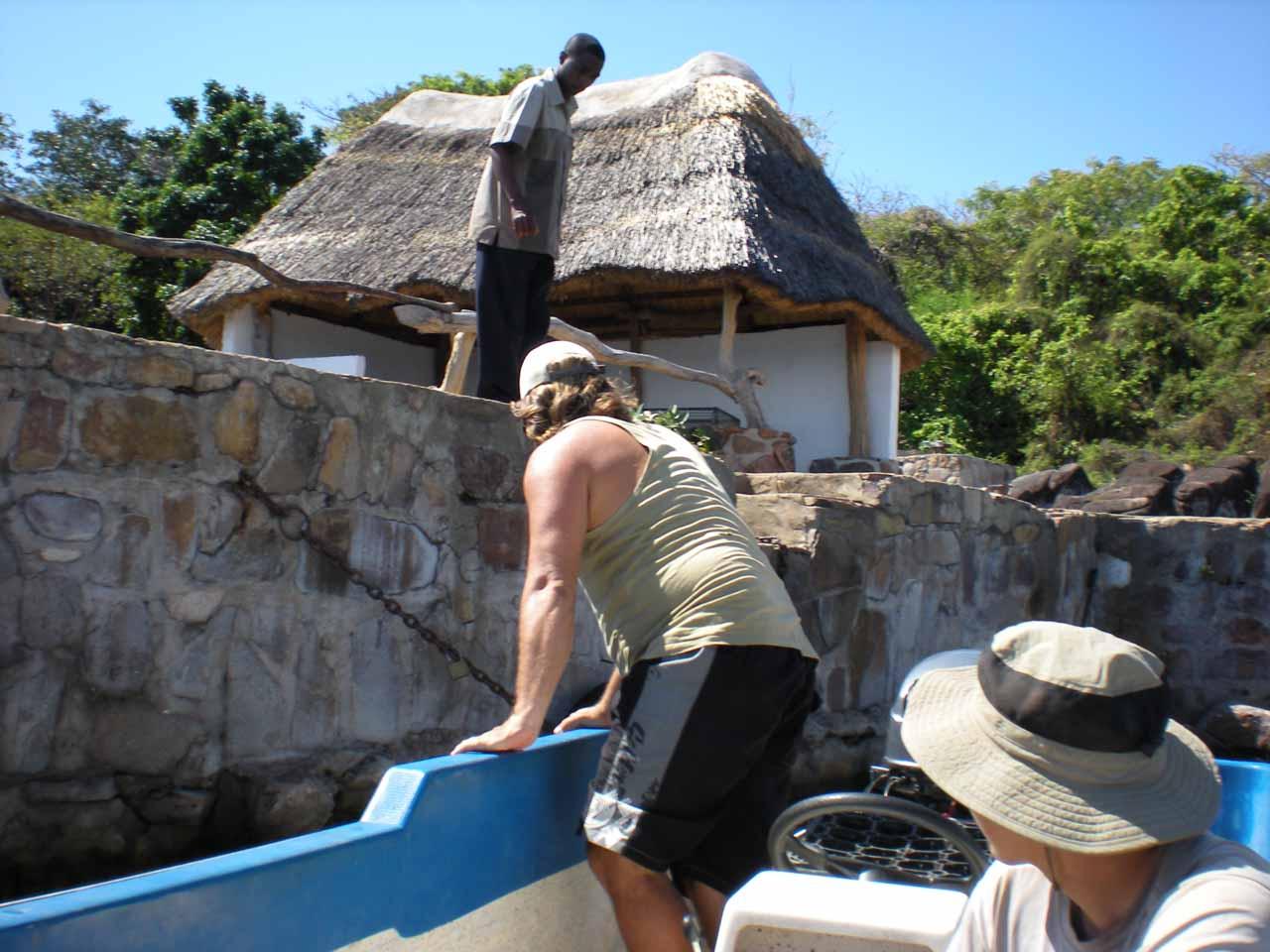 Arriving at Isanga Bay