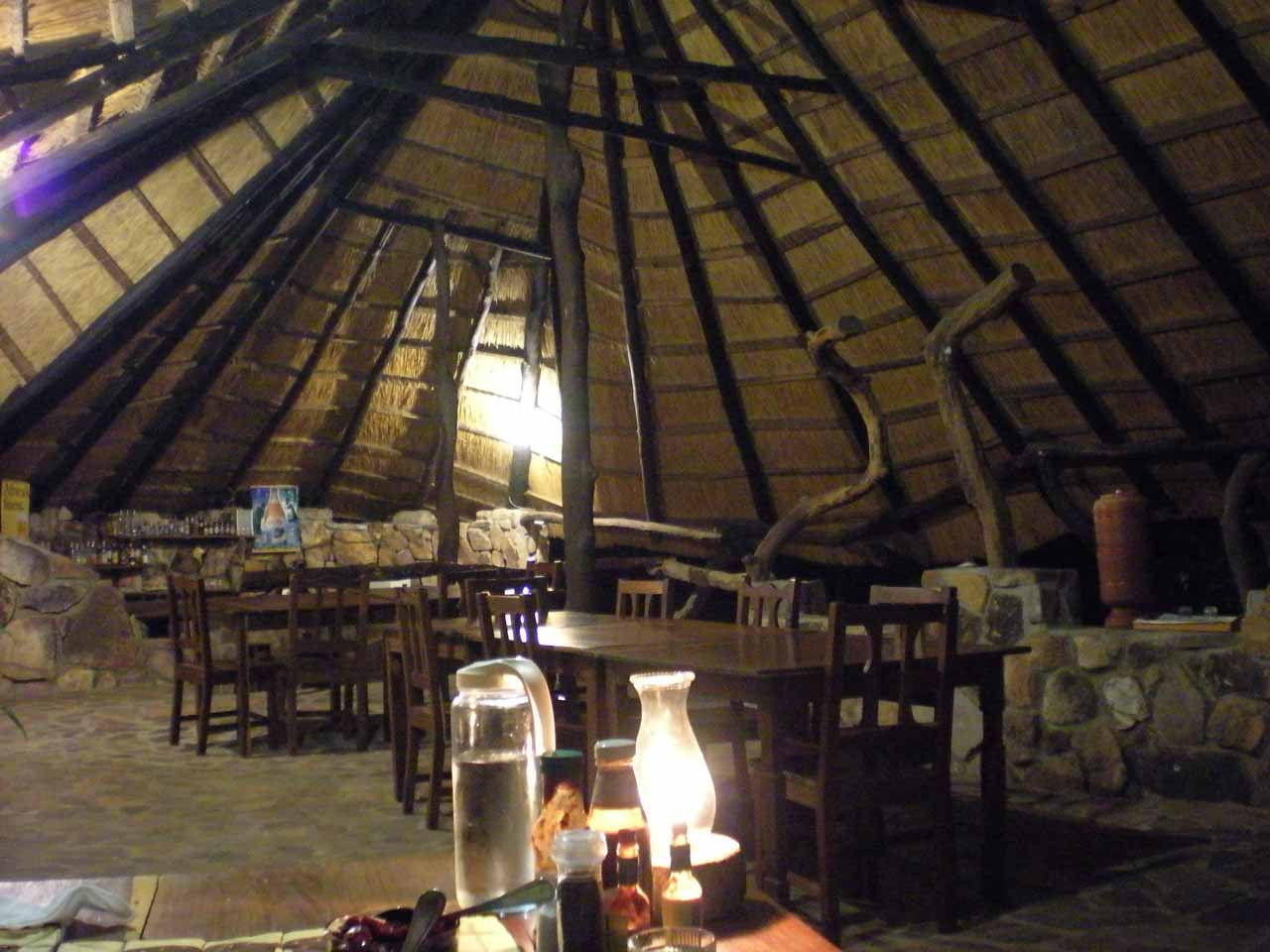 The dining area at Isanga Bay