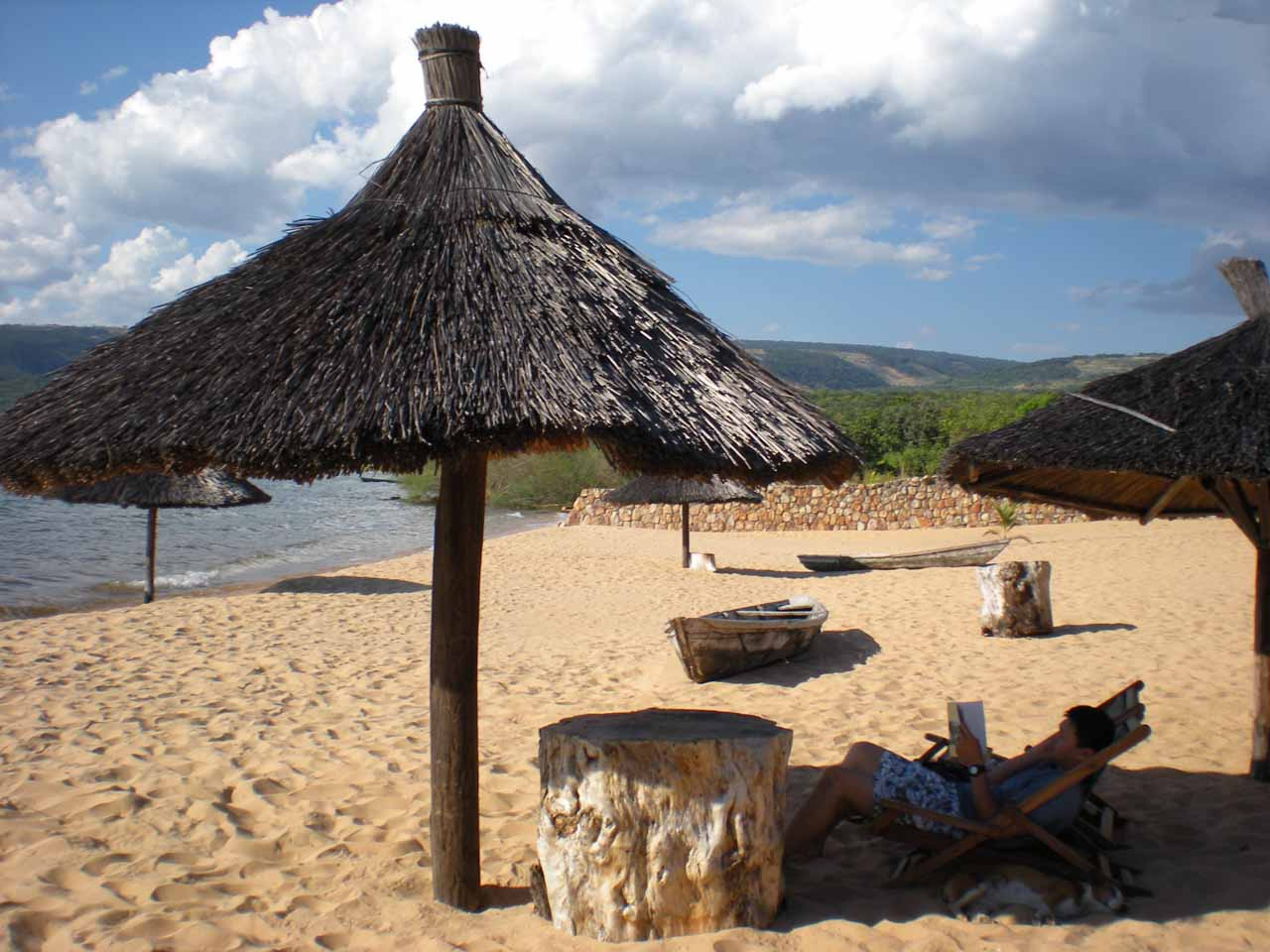 Relaxing at Isanga Bay