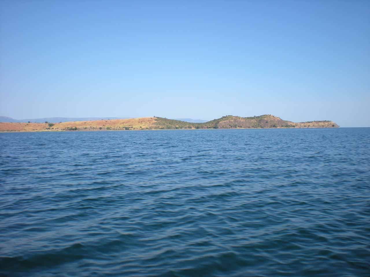 Crocodile Island on Lake Tanganyika