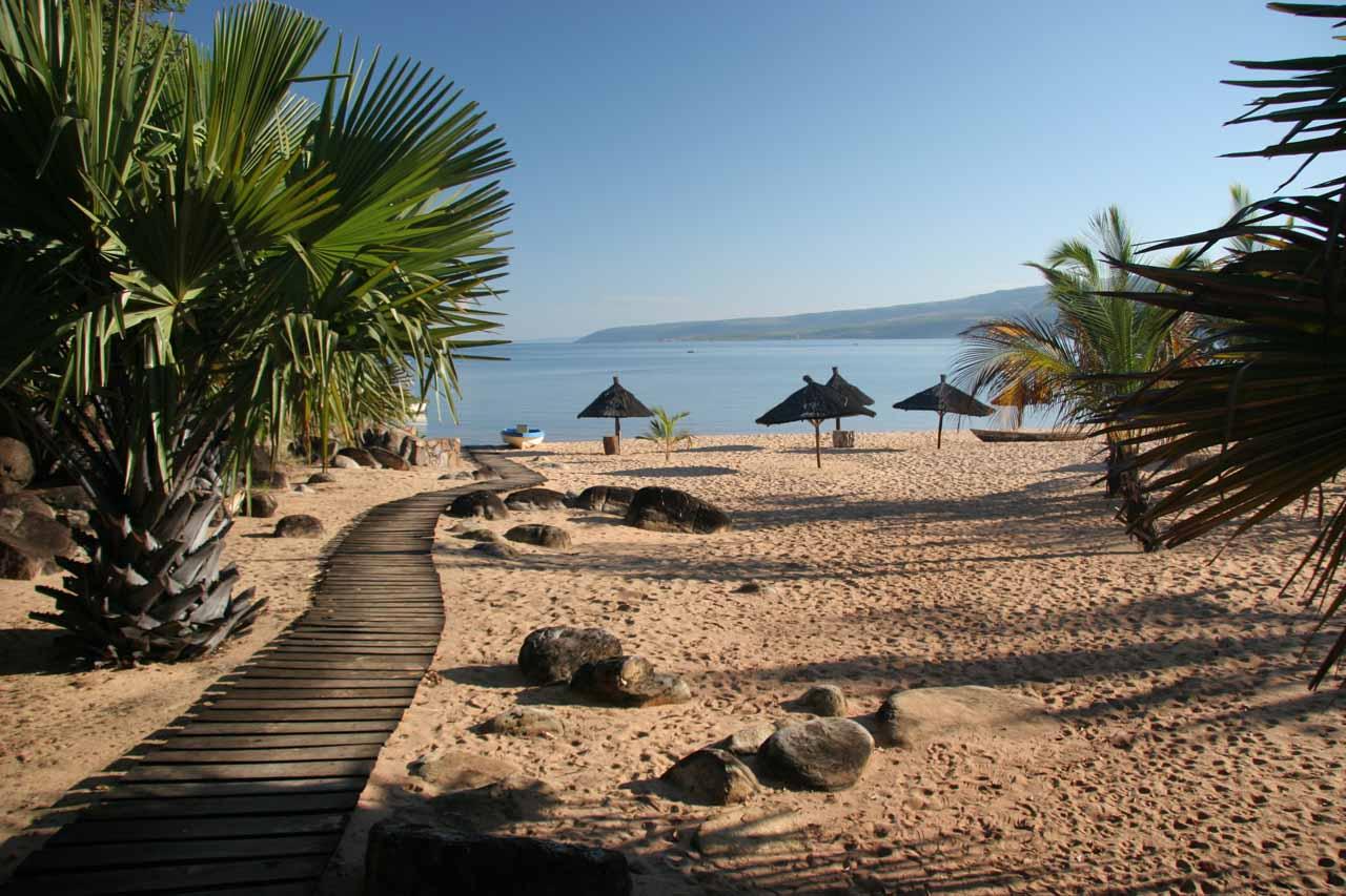 The beach at Isanga Bay