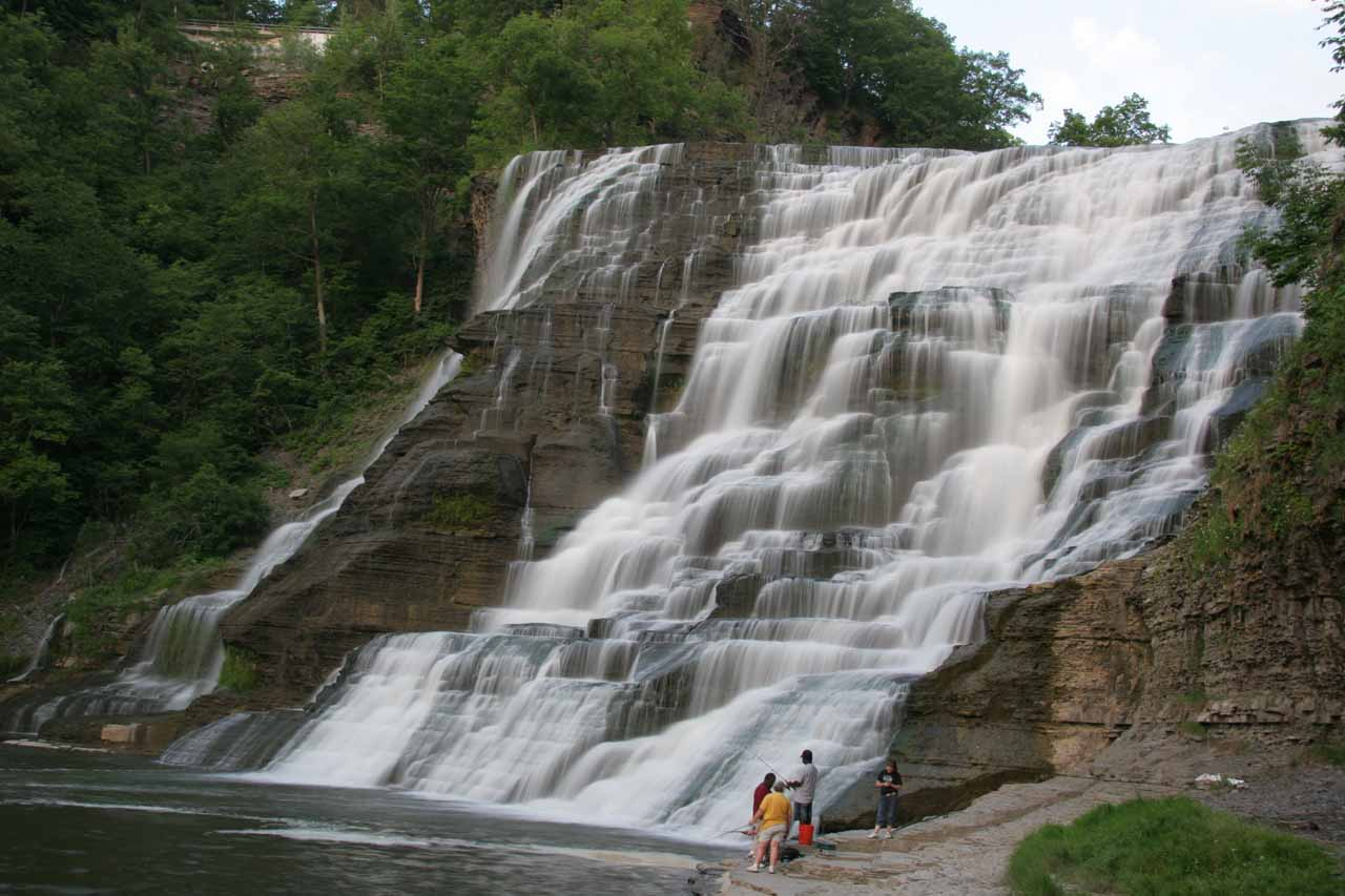 Angled view of Ithaca Falls