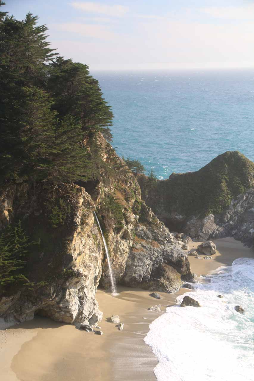 Closeup look at McWay Falls