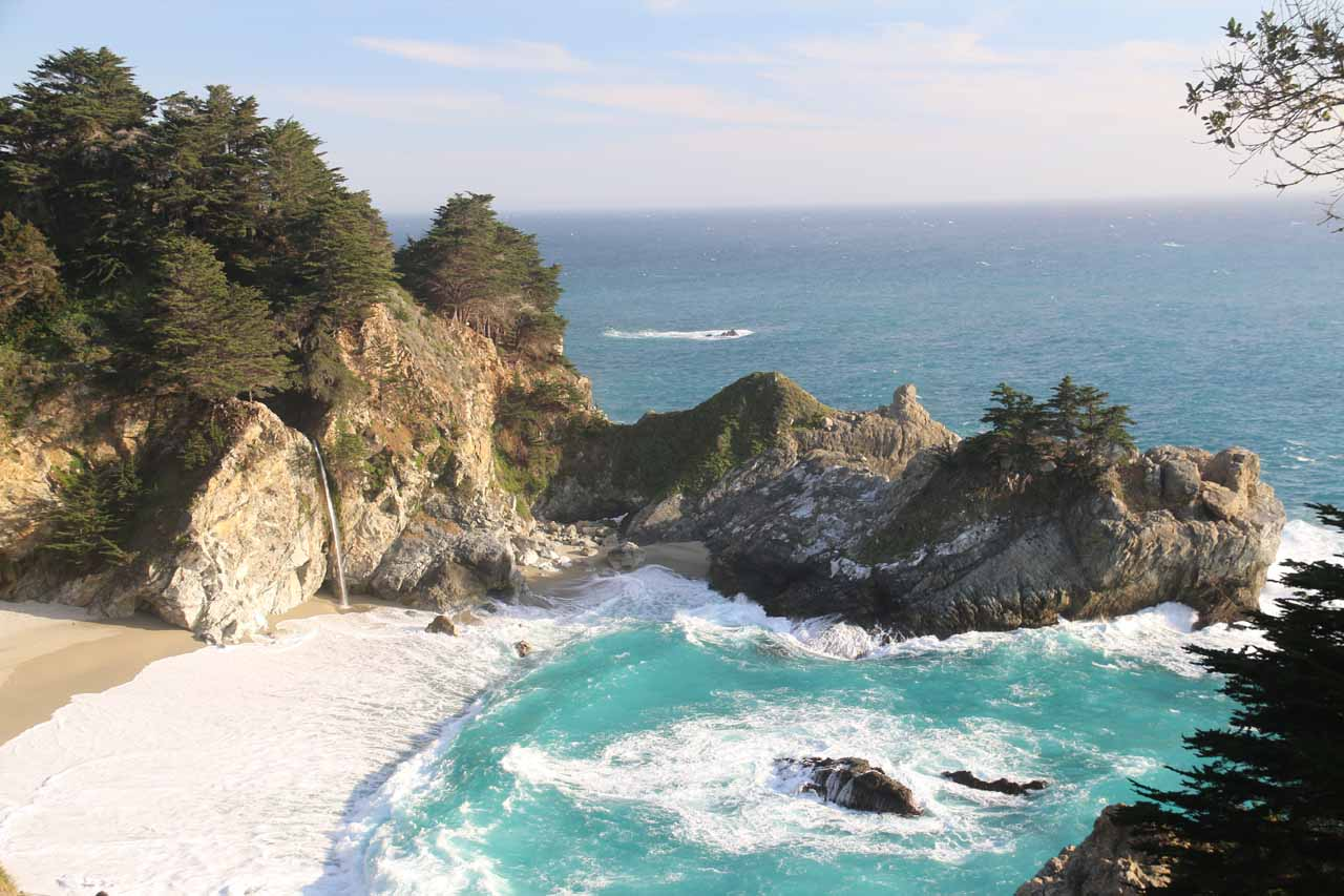 In case you've stumbled on this page and wondered why McWay Falls overshadows Canyon Falls, perhaps this photo of McWay Cove might give you an emphatic explanation
