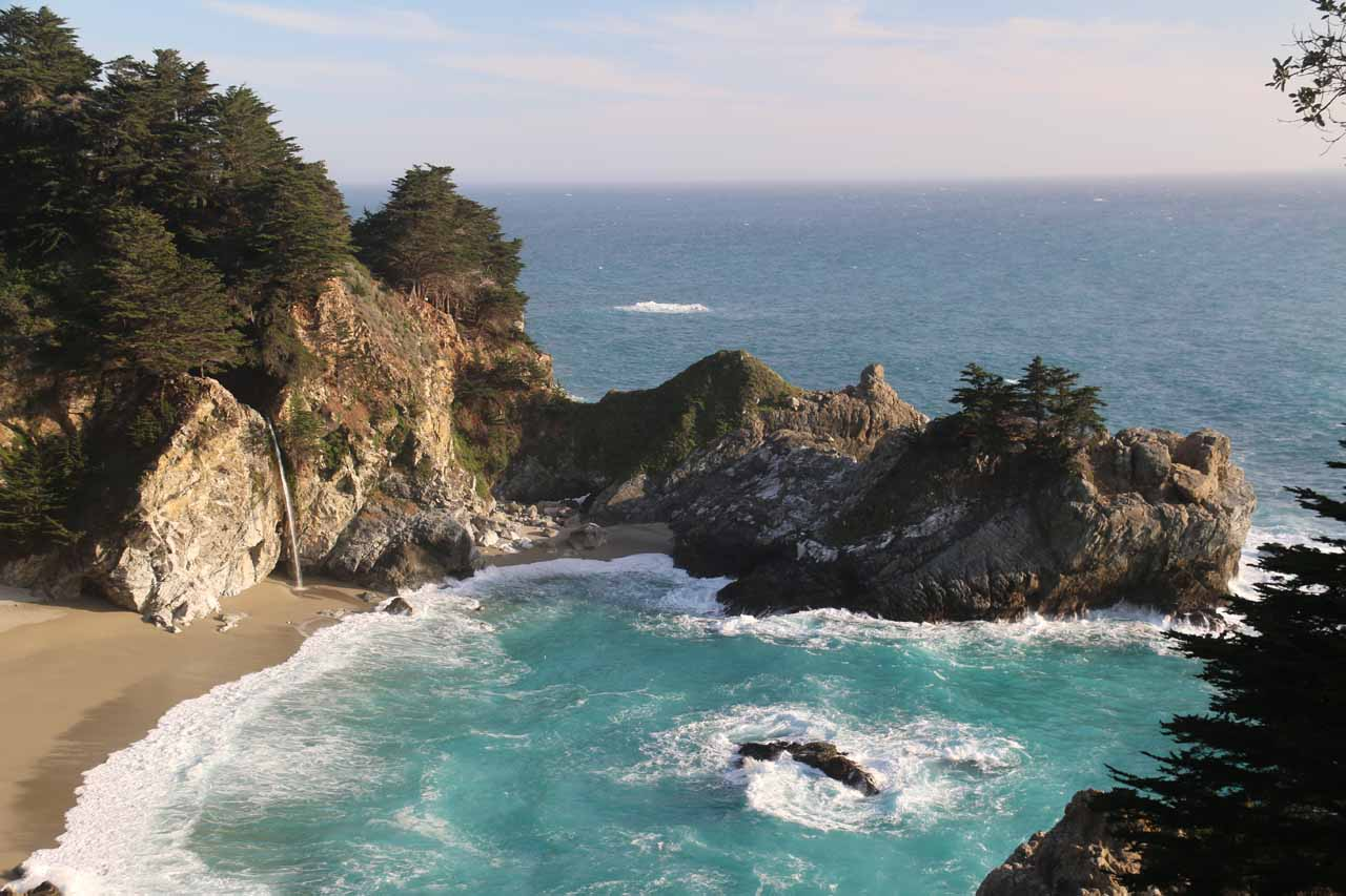 This was the view of McWay Falls and Waterfall Cove from the Waterfall House