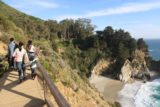 JP_Burns_SP_115_04022015 - Context of Julie and Tahia on the walkway with McWay Falls and McWay Cove to the right of them as we were concluding our visit in April 2015