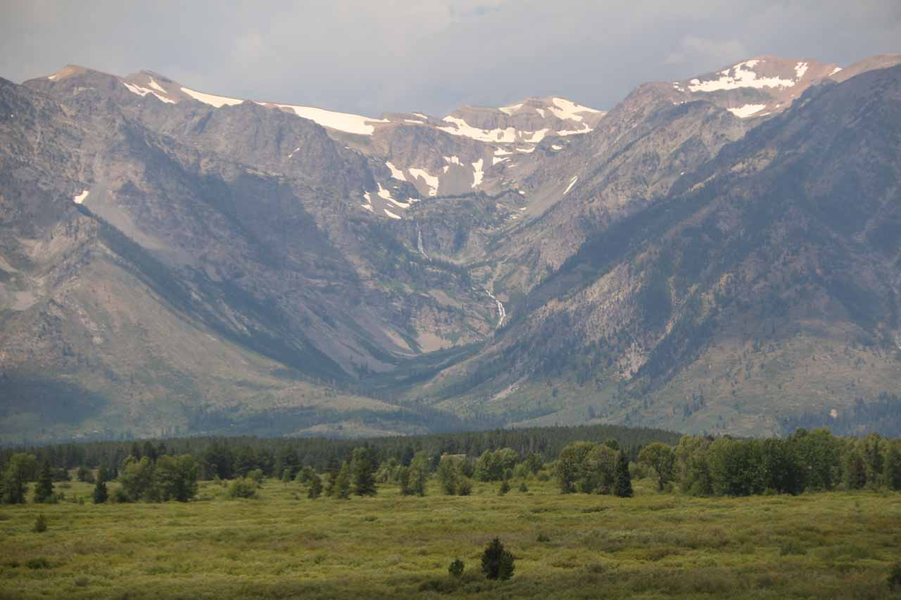 Contextual view of Wilderness and Columbine Falls from Jackson Lake Lodge