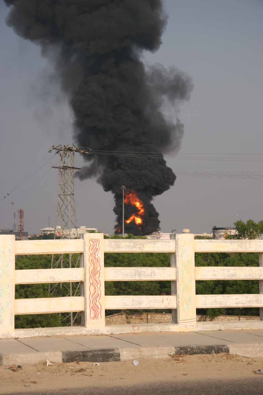 Oil fire in Jaipur