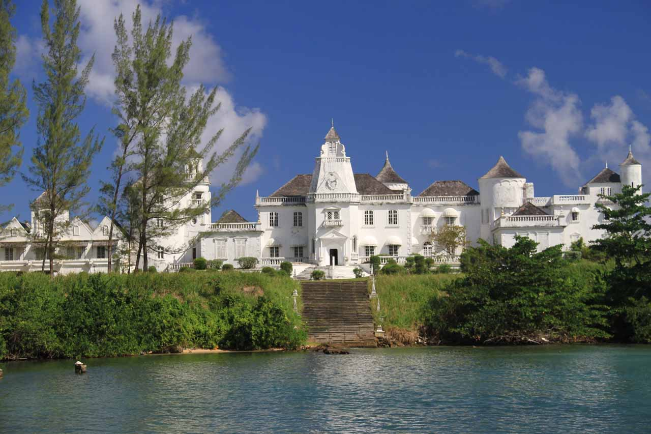 As we continued driving east of Port Maria towards Somerset Falls, we briefly made a photo stop of the Jamaica Castle