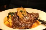 Jeremys_on_the_Hill_008_02092019 - Julie's grass-fed rib-eye steak served up at Jeremy's on the Hill near Santa Ysabel