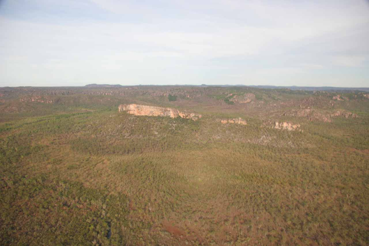 The escarpment lands of Kakadu from the air