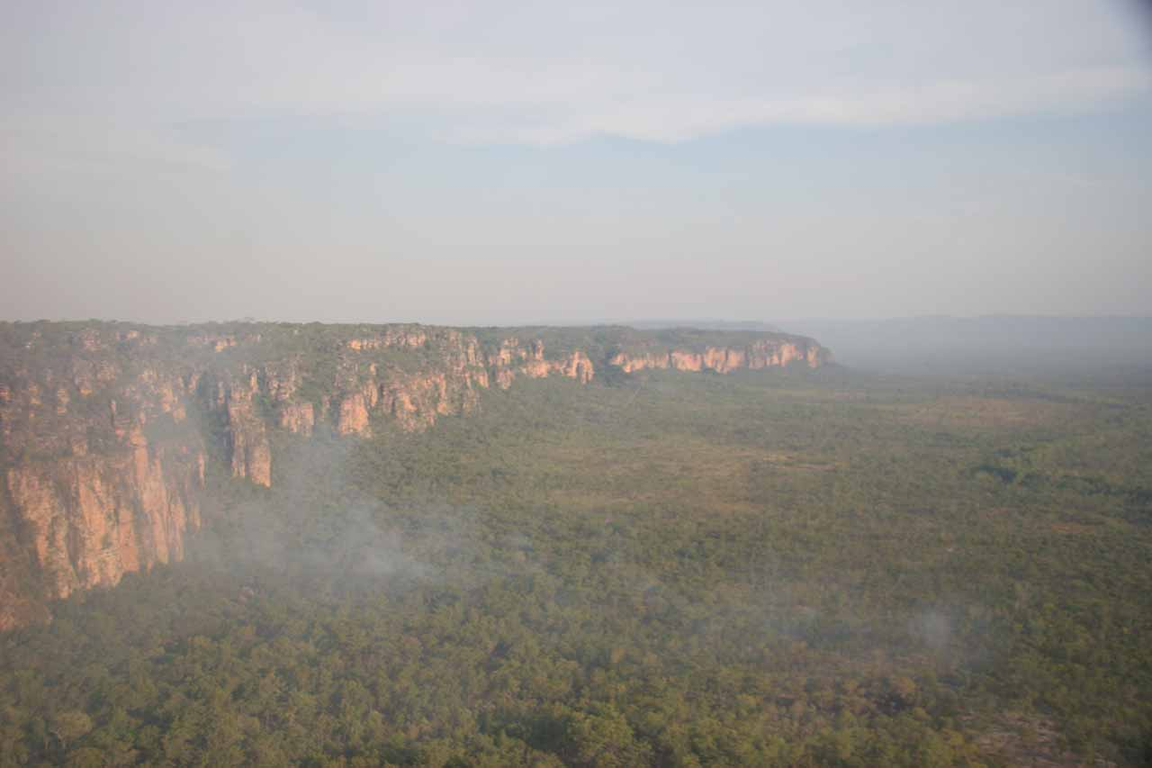 Hazy skies from prescribed burns in Kakadu