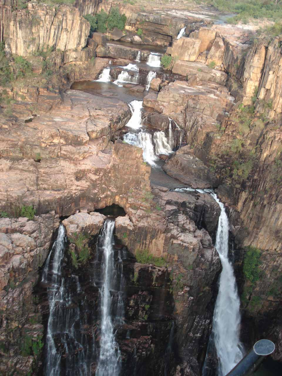 Flying over Twin Falls and its many tiers