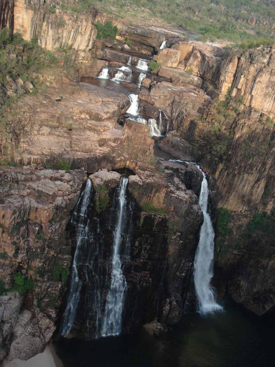 Our visit to Double Falls also included a flyover of the impressive Twin Falls