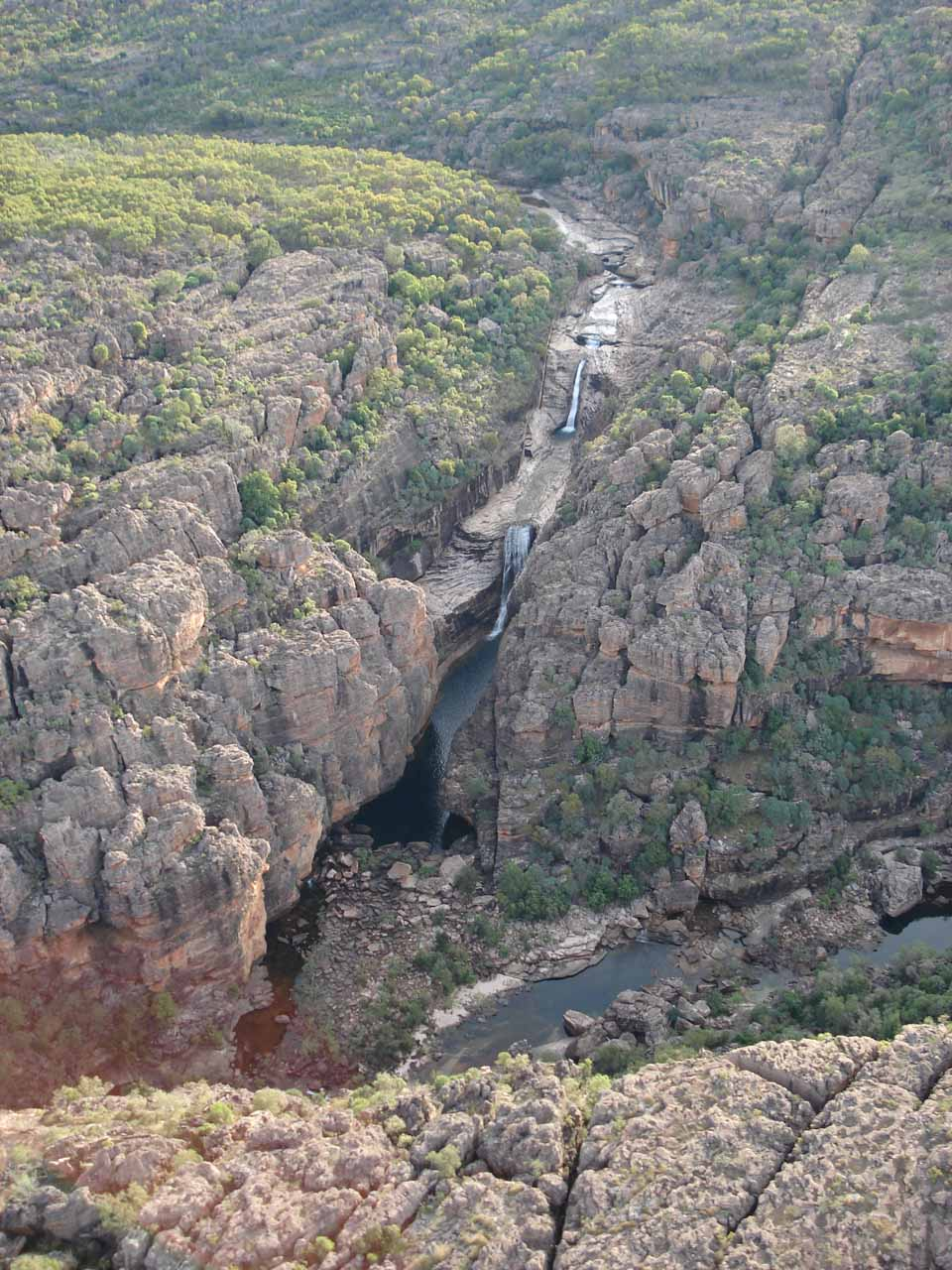 Double Falls viewed from a slightly different angle in the flyover