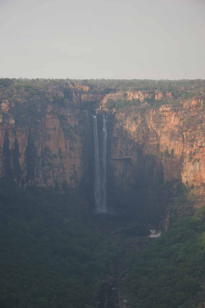Jim Jim Falls in Kakadu National Park in the Northern Territory Australia as seen from the air