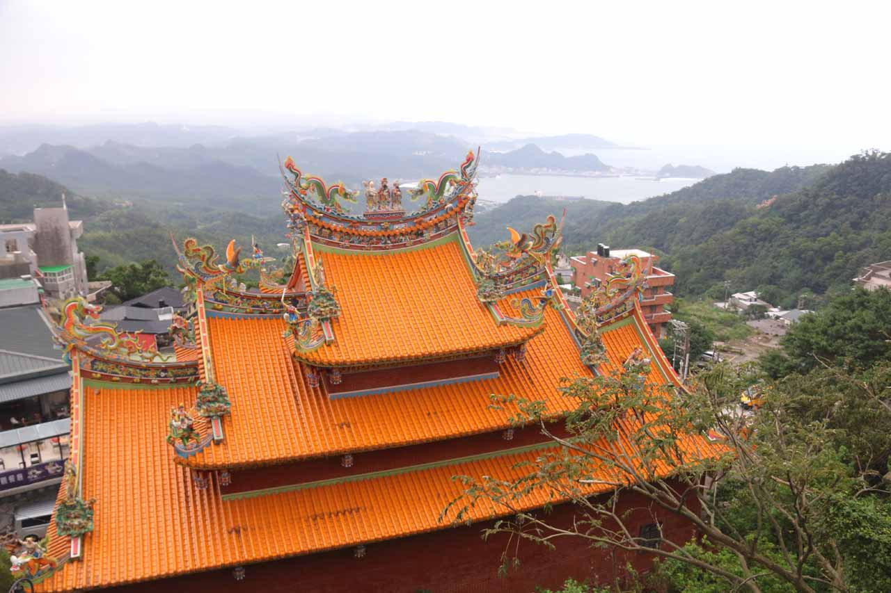 Before the 12km tunnel, Mom said you either took the twisty Tai-9 or take the scenic the coastal road past the UNESCO mining town of Jiufen (shown here) to Yilan
