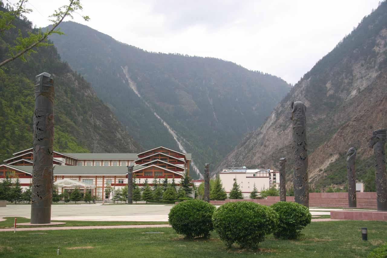 The hotel we were staying at in Jiuzhaigou village