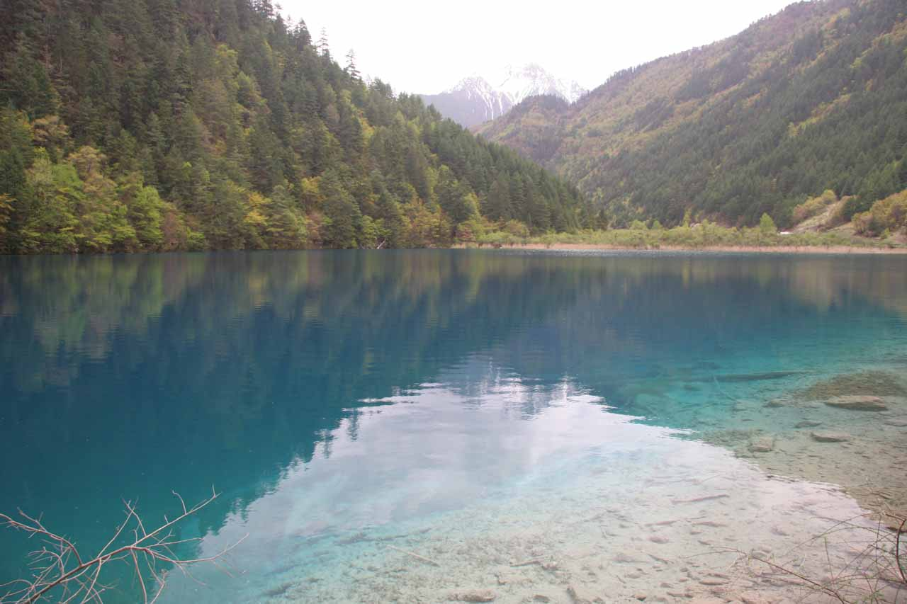 This was the Tiger Lake, which was where we started the walk to descend alongside the Shuzheng Waterfall