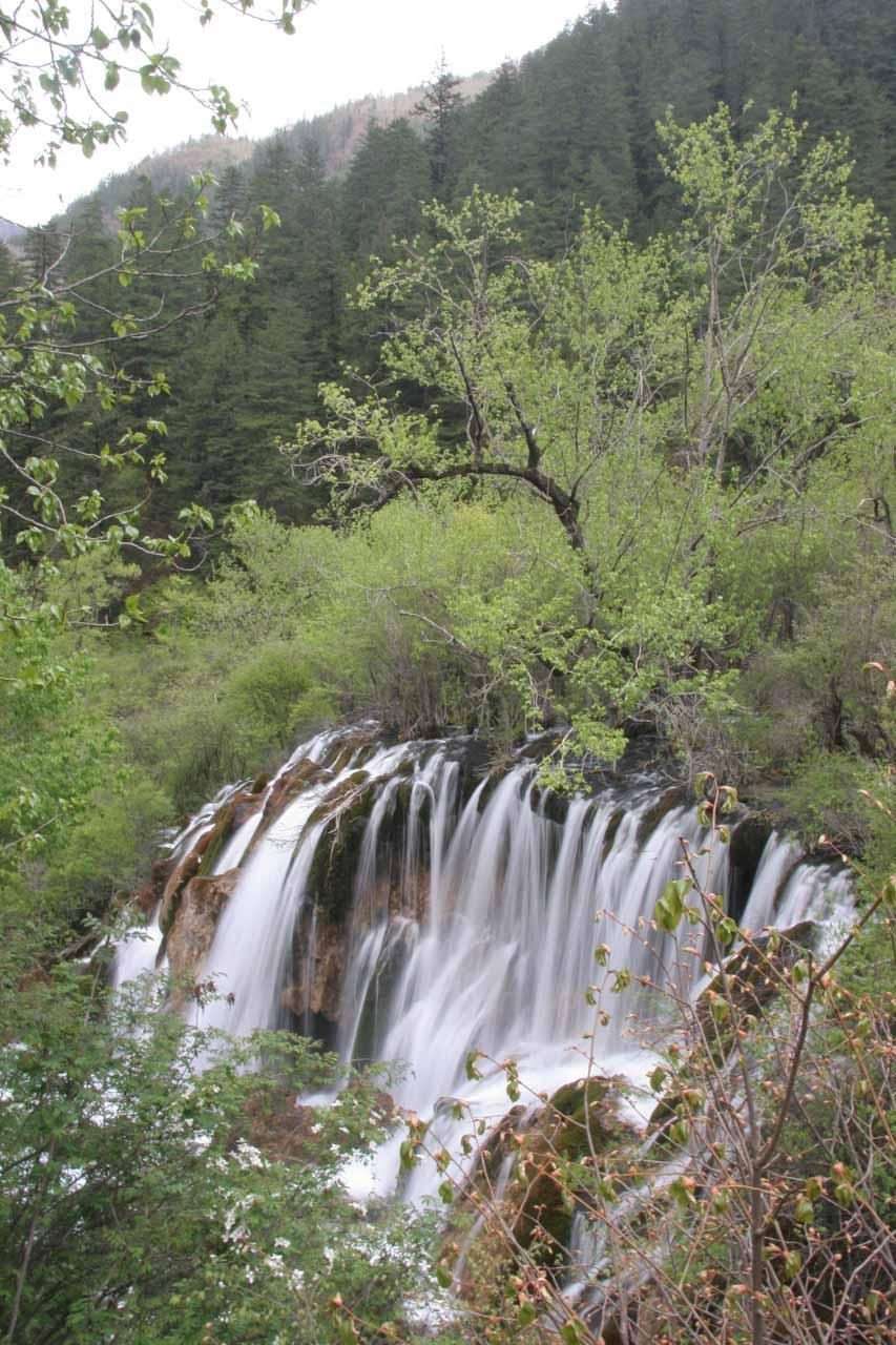Top down view of the Shuzheng Waterfall