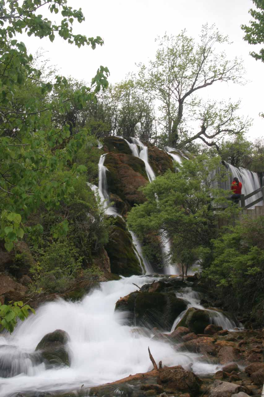 Looking back towards the remainder of the Shuzheng Waterfalls