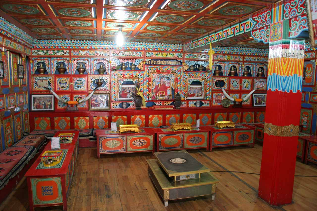 This was the colorful interior of one of the Tibetan residences in the Shuzheng Village