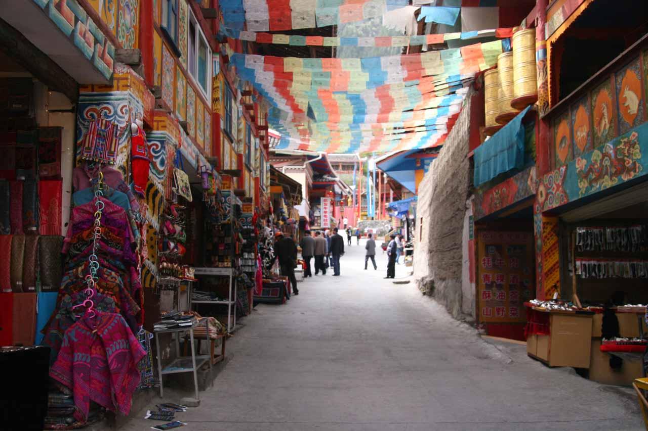 Shopping within the Tibetan Village