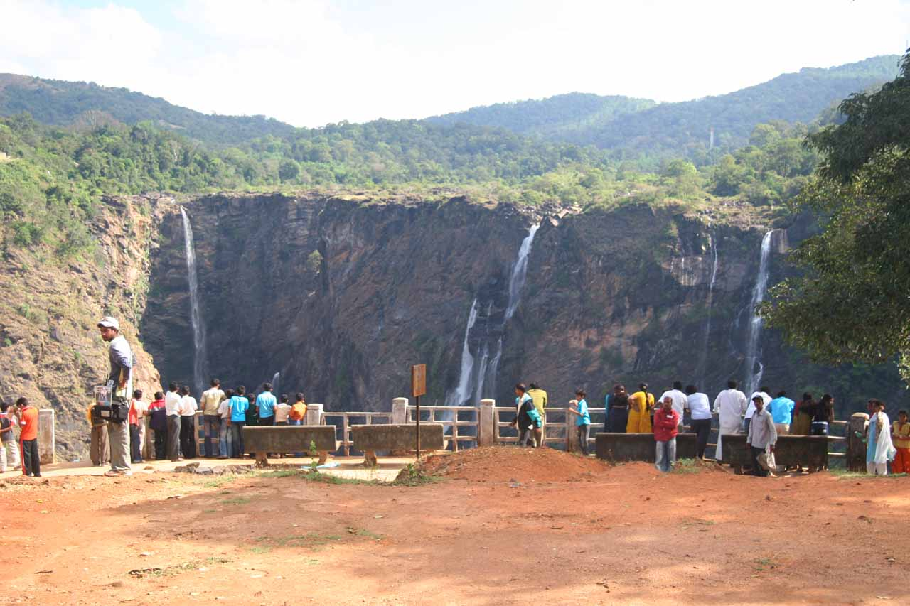 The overlook of Jog Falls