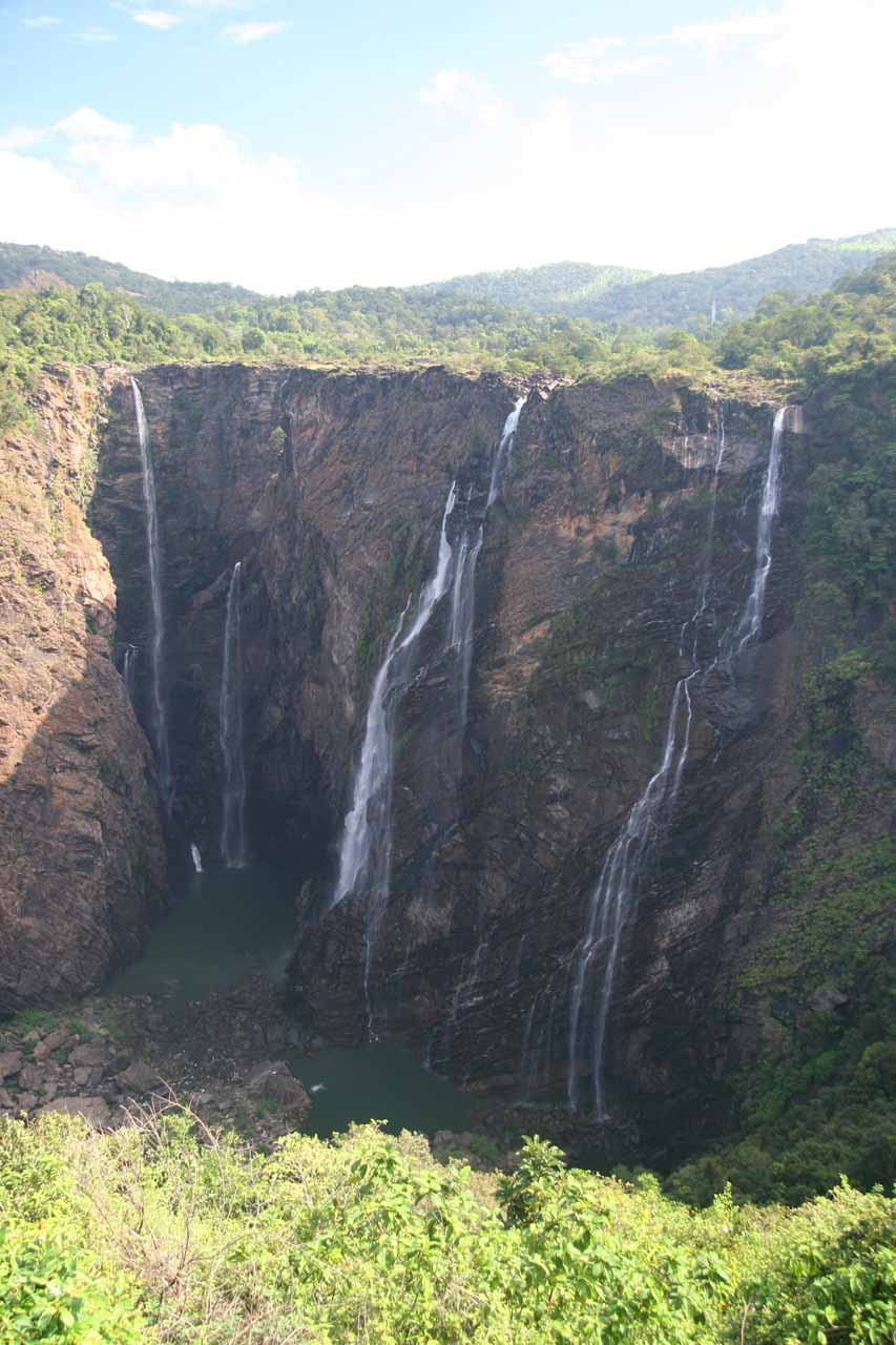 A portrait view of Jog Falls