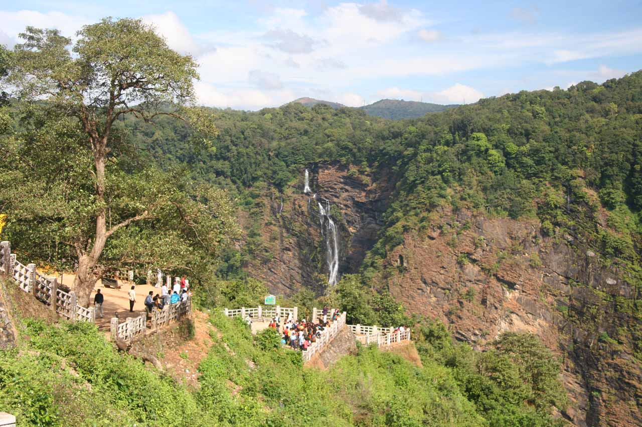Context of the orphaned waterfall by Jog Falls