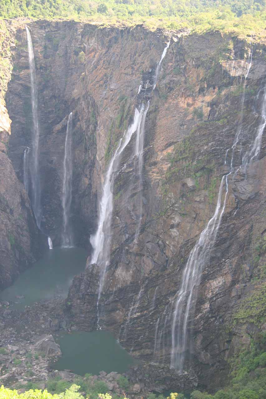 A less hazier view of Jog Falls than before
