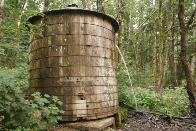 John_B_Yeon_SP_008_08172017 - An old water tank situated near the trailhead for Elowah Falls