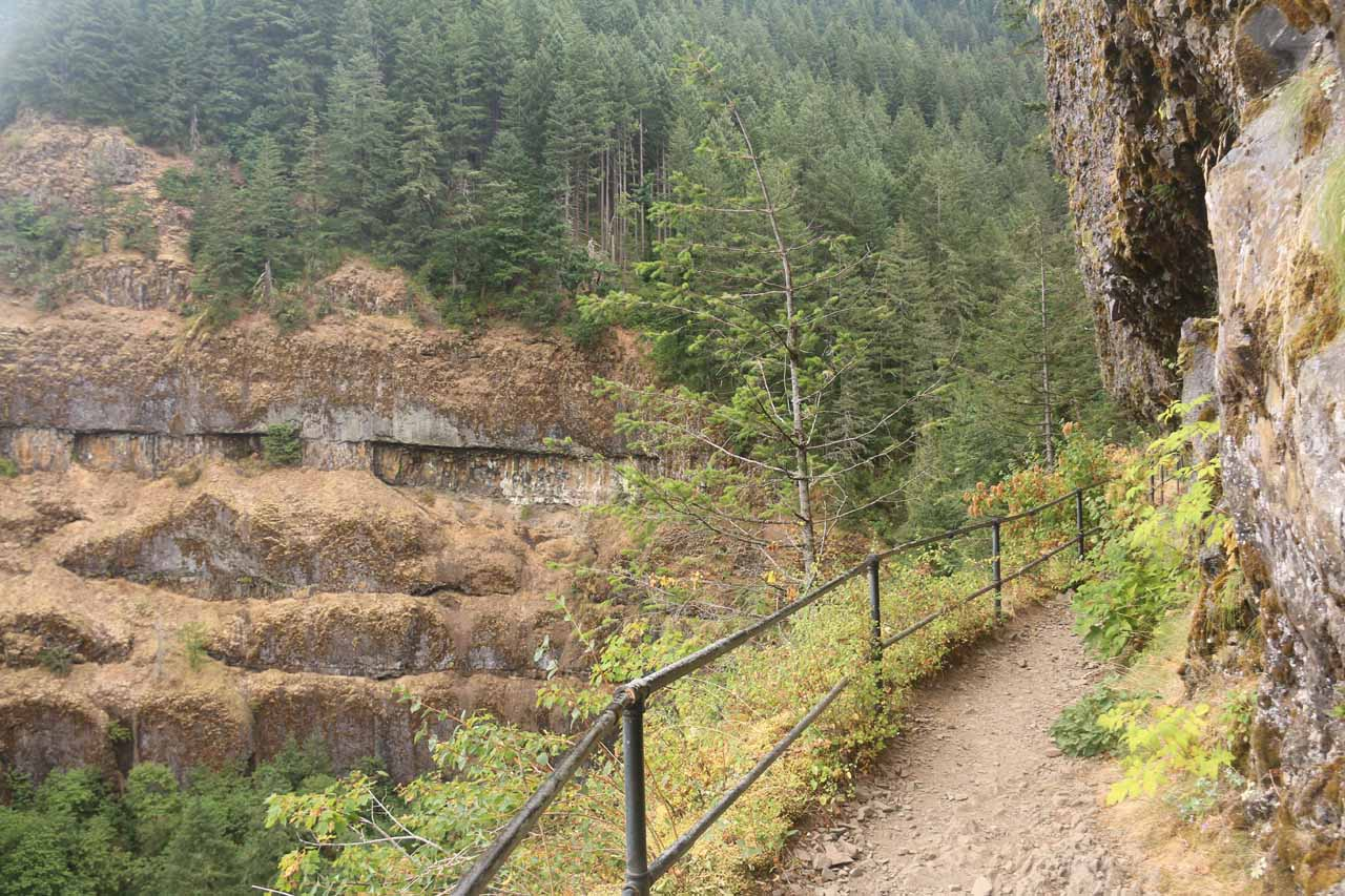 The trail then rounded a bend as it re-entered the gorge carved out by the McCord Creek