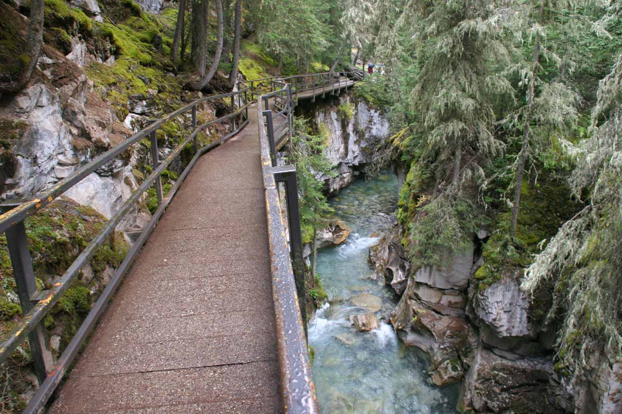 Elevated catwalks made Johnston Canyon a very leisurely excursion
