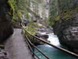Johnston_Canyon_018_jx_09162010 - The walkway continued to follow the gorge passing by more small waterfalls