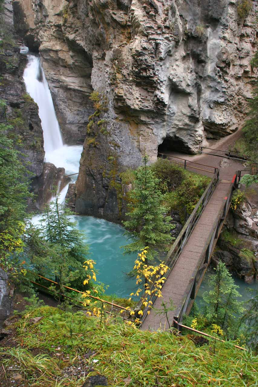 The so-called Lower Waterfall - one of the more attractive Johnston Canyon Waterfalls