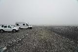 Jokulsarlon_002_08092021 - Arriving at the foggy car park for Diamond Beach just downstream of Jokulsarlon