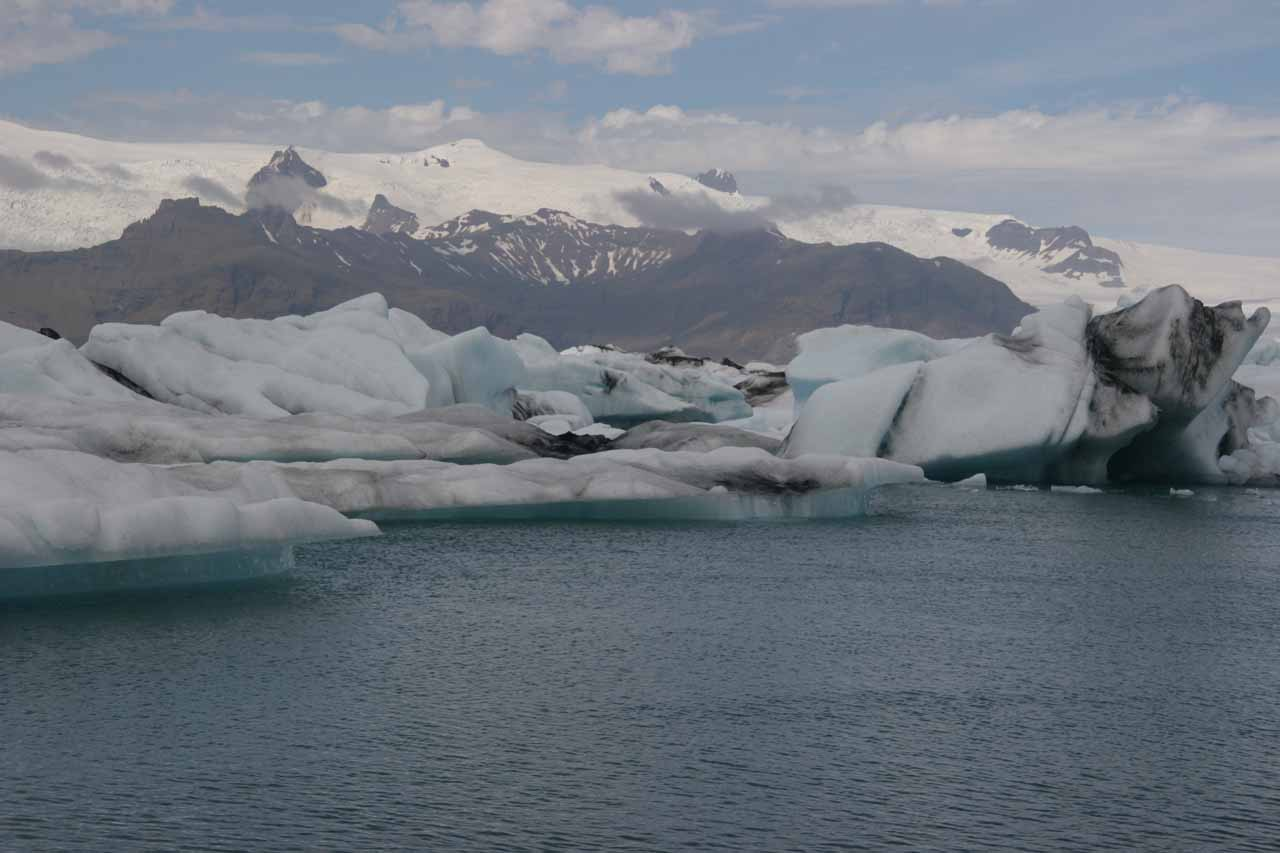 Then, you hit Jökulsárlón and the beautiful icebergs and glaciers there