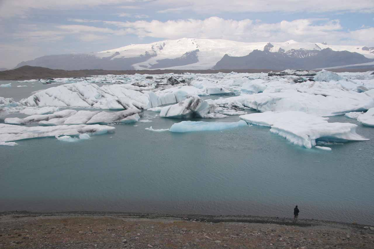 Further to the east of Skaftafell National Park was the scenic glacier lagoon full of icebergs at Jokulsarlon